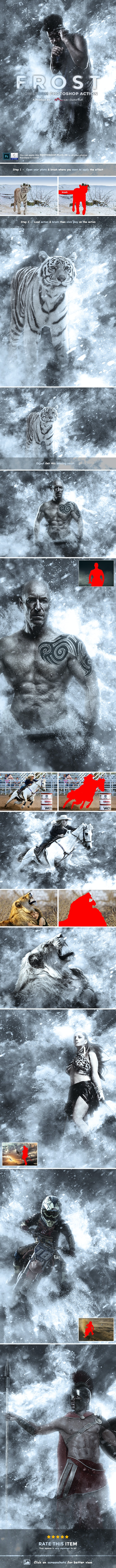 Frost - Snowstorm Photoshop Action - Photo Effects Actions