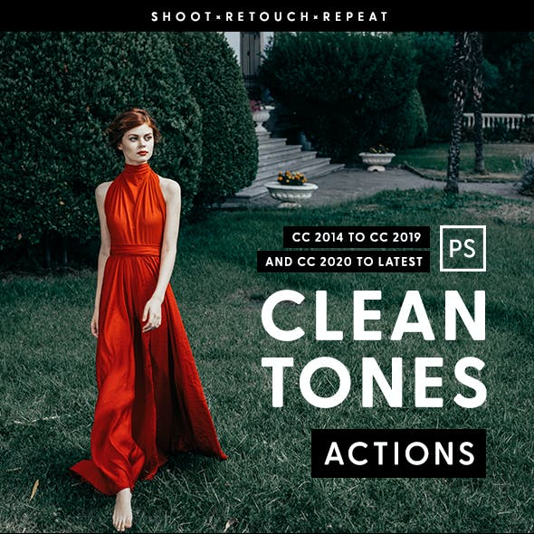 Clean Tones - Photoshop Action