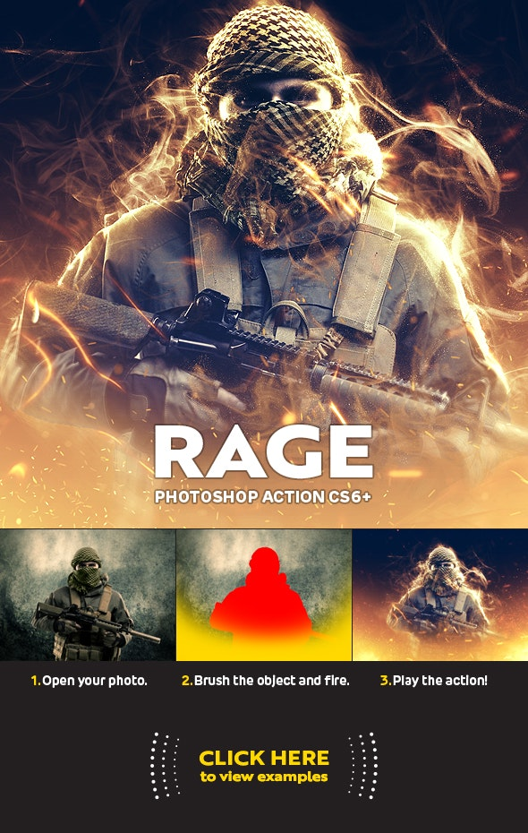 Rage for Photoshop CS6+ - Photo Effects Actions