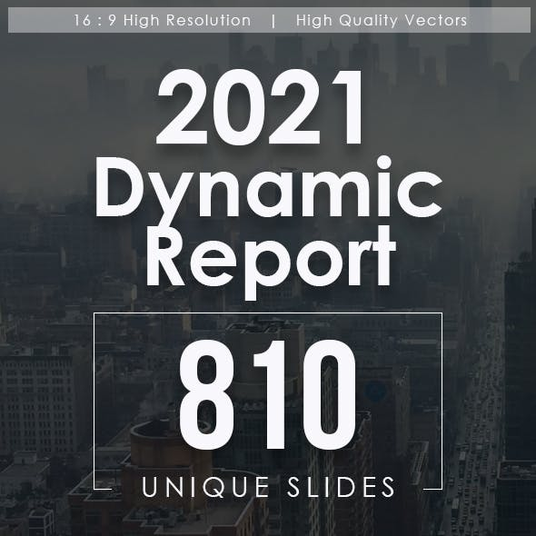 2021 Dynamic Report Keynote Templates Bundle