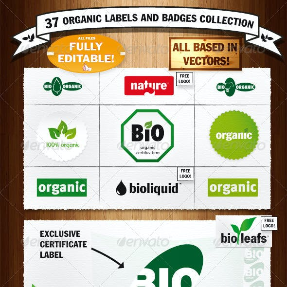 Organic Labels and Badges Collection