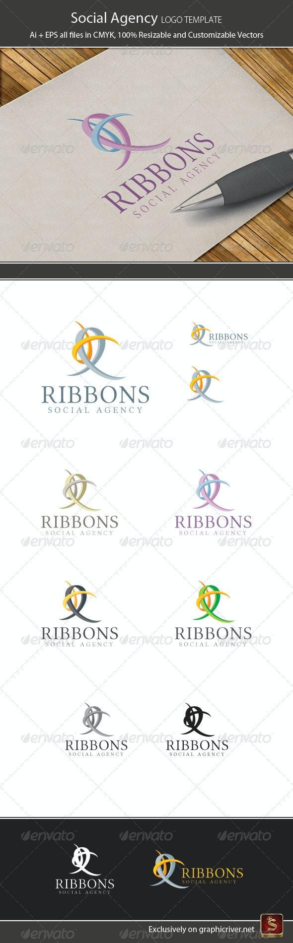 Social Agency Logo Template - Vector Abstract