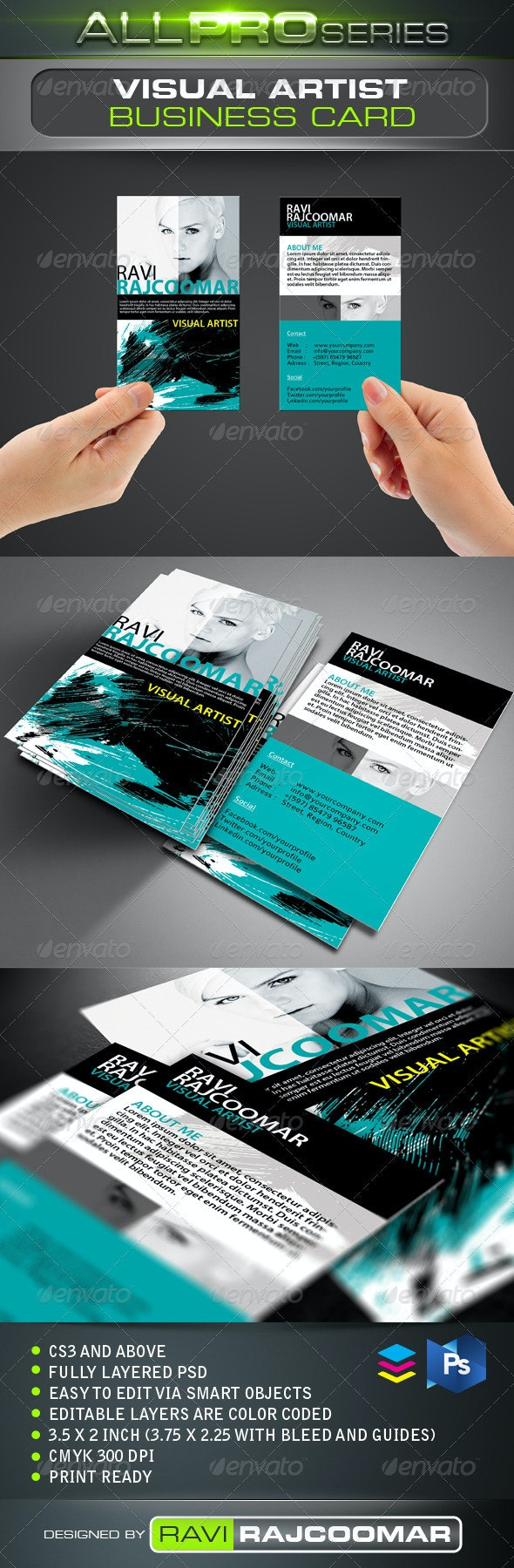 Visual Artist Business Card - Creative Business Cards