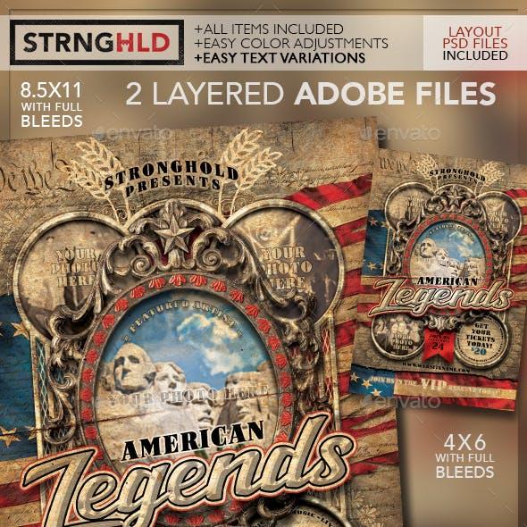 American Legends Vintage Flyer Template
