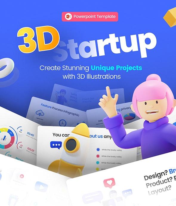 3D UI Asset for Powerpoint Template - Business PowerPoint Templates