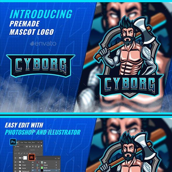 Robotic Cyborg Lumberjack - Mascot Esport Logo