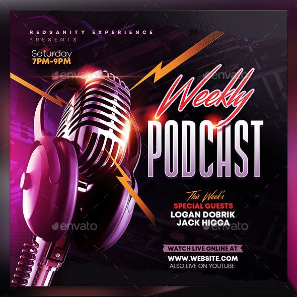 Weekly Podcast Flyer