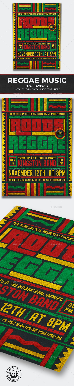 Reggae Music Flyer Template V4 - Concerts Events