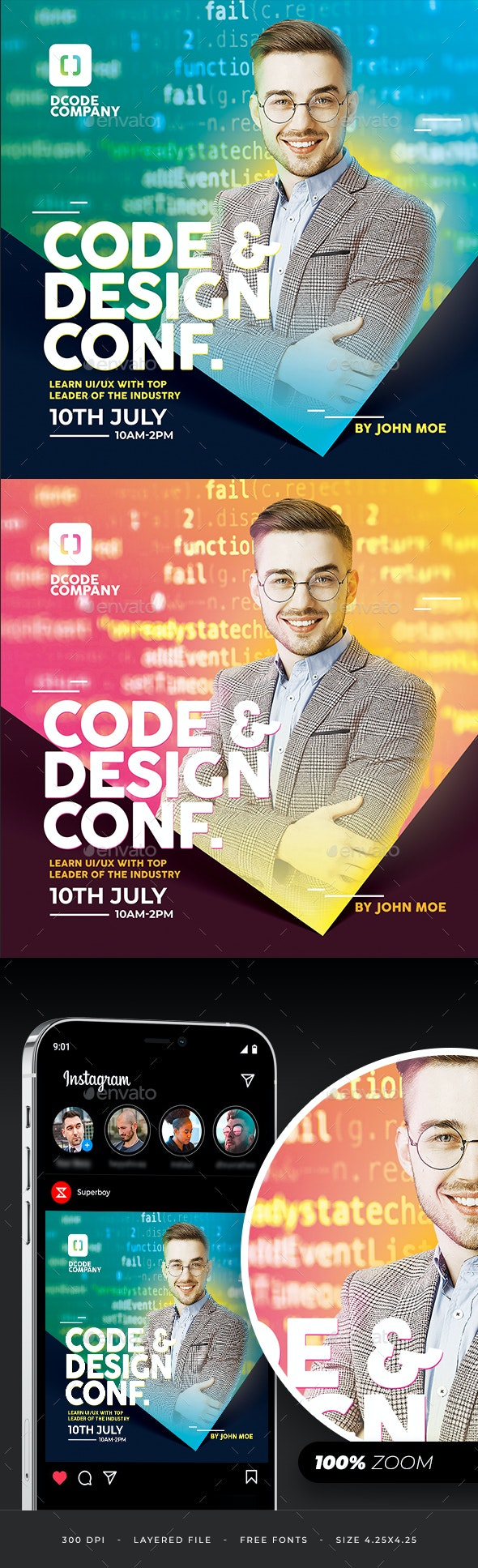 Code And Design Conference Flyer - Corporate Flyers
