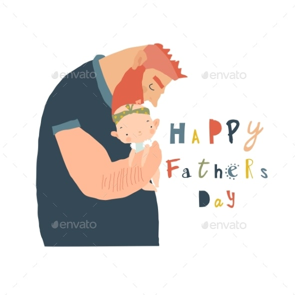 Happy Fathers Day Card - People Characters