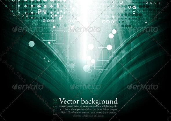 Vector tech background - Abstract Conceptual
