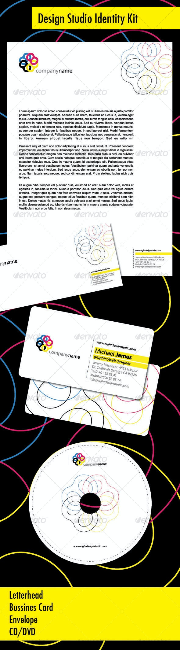 Design Studio Identity Kit - Stationery Print Templates