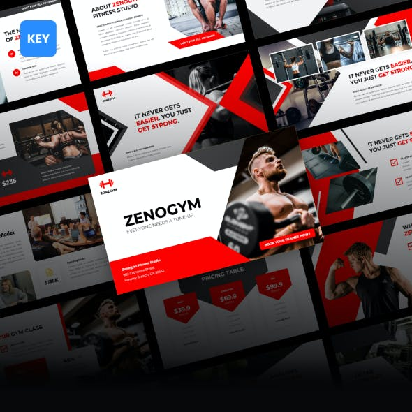 Zenogym - Fitness and Gym Keynote Template