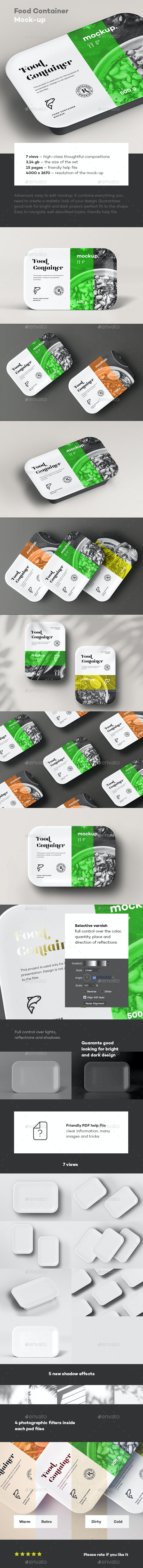 Food Container Mock-up - Food and Drink Packaging