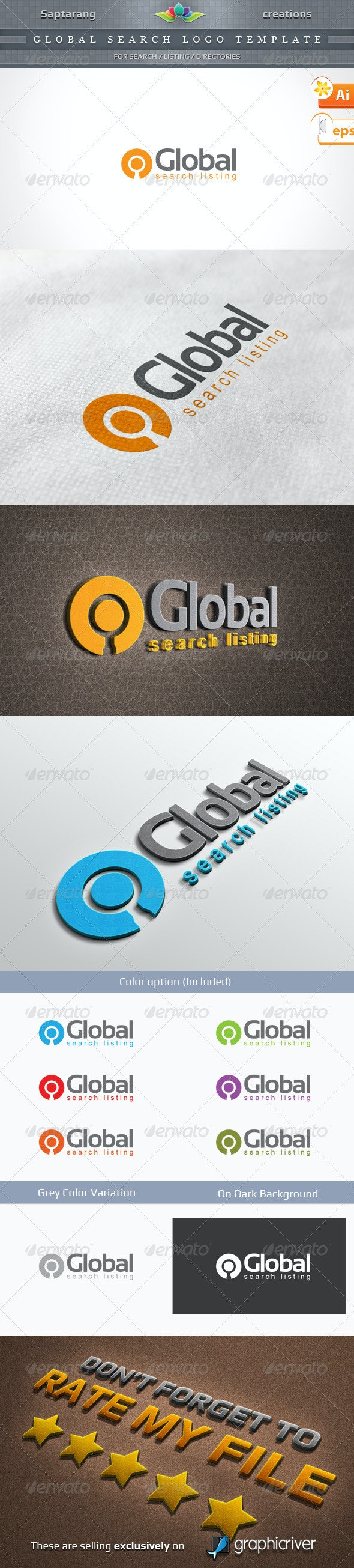 Global Search Listing Logo template - Symbols Logo Templates