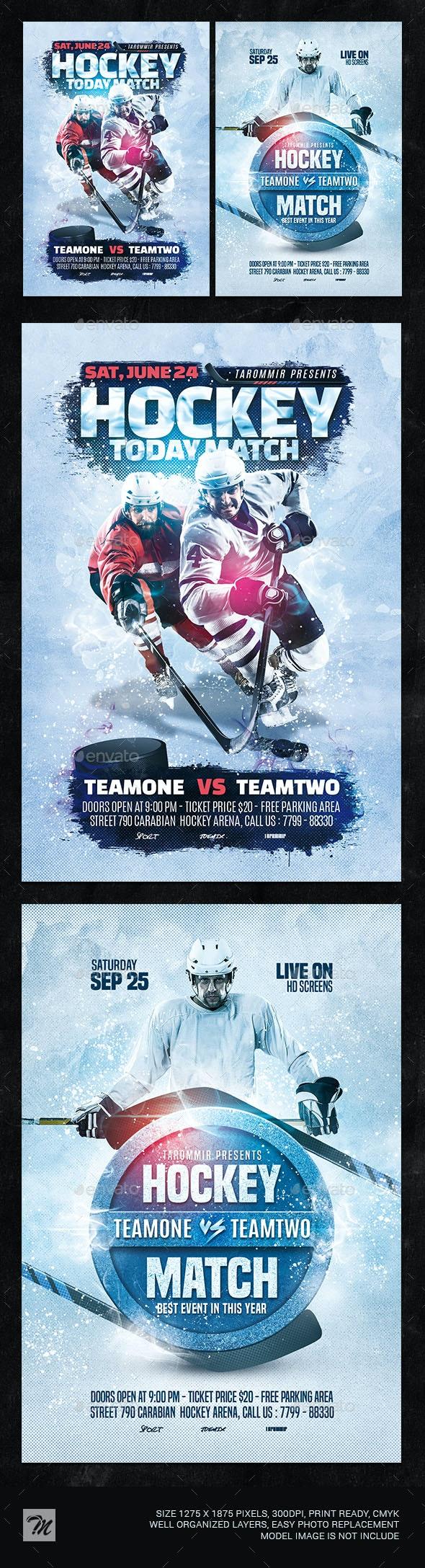 Hockey Flyer Bundle Vol 1 - Sports Events