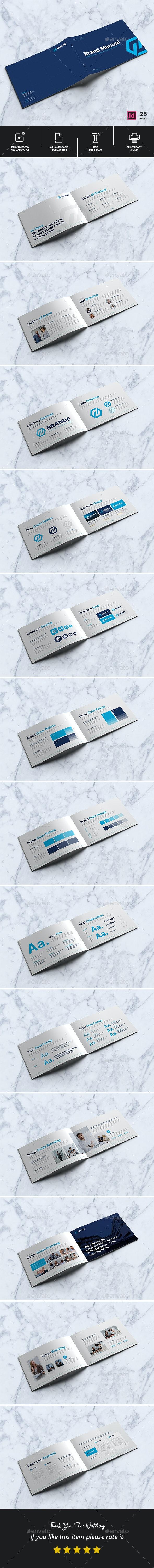 Brand Manual Landscape Brochure Template - Corporate Brochures