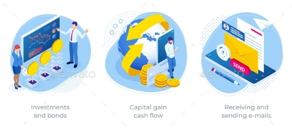 Isometric Investments and Bonds Capital Gain Cash - Business Conceptual