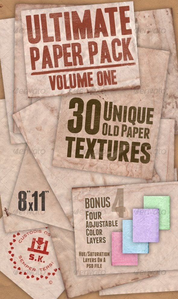 Ultimate Paper Pack: Version One  - Paper Textures