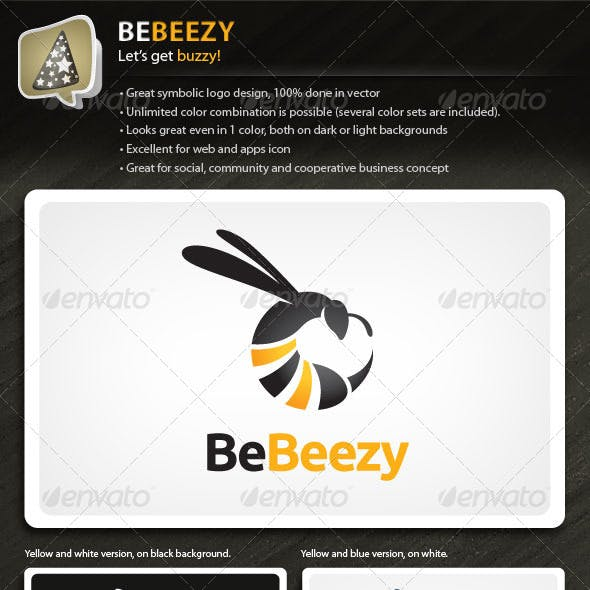 BeBeezy - Bee Logo For Your Social Business