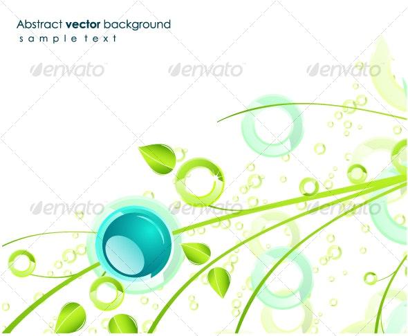 Green floral design - Backgrounds Decorative