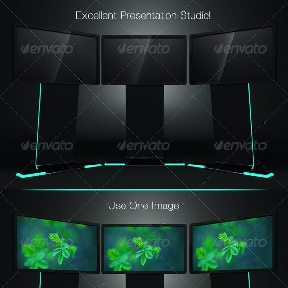 TV Stand Presentation Mockup