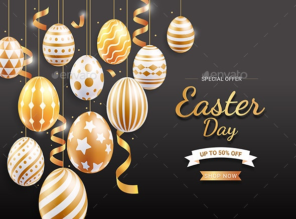 Happy Easter Day Background Design - Backgrounds Decorative