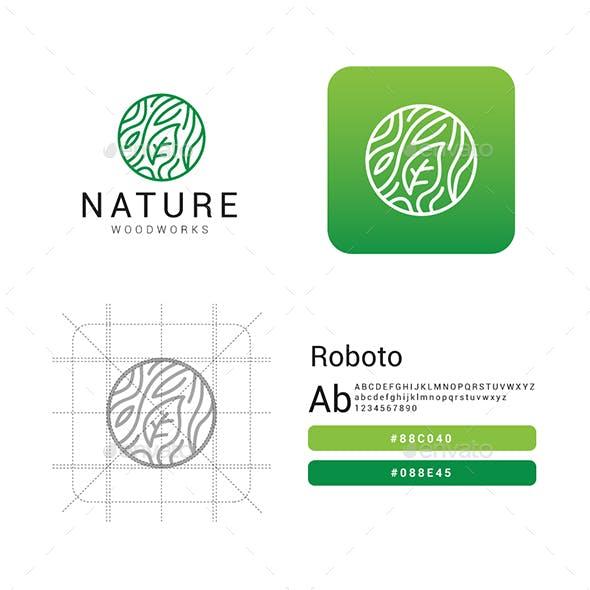 Nature Woodworks Modern Logo
