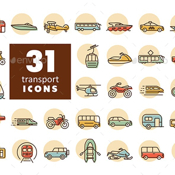 31 Transportation vector flat icon