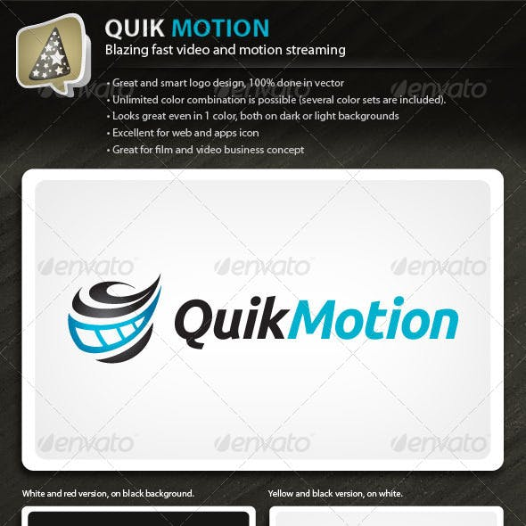 QuikMotion - Logo For Film And Video Business
