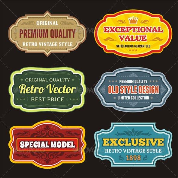 Badges Stickers - set 02