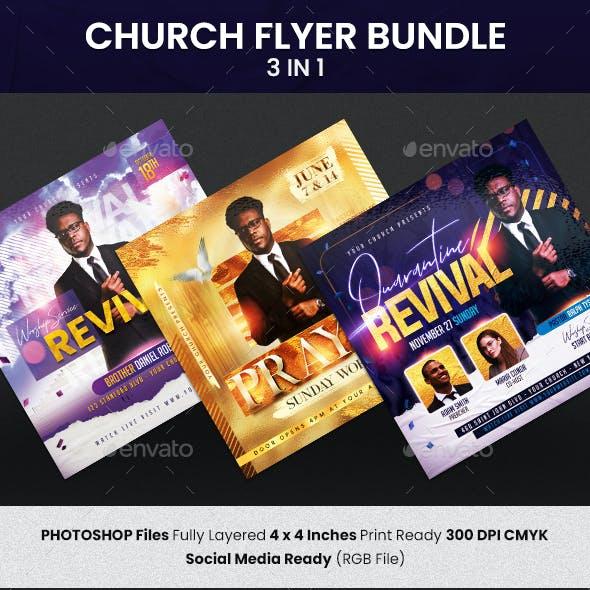 Church Flyer Bundle 3 in 1