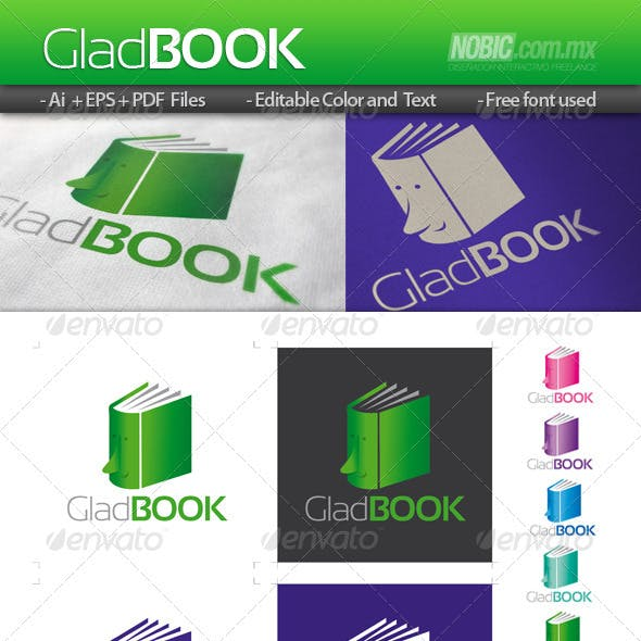 Glad Book Logo Template