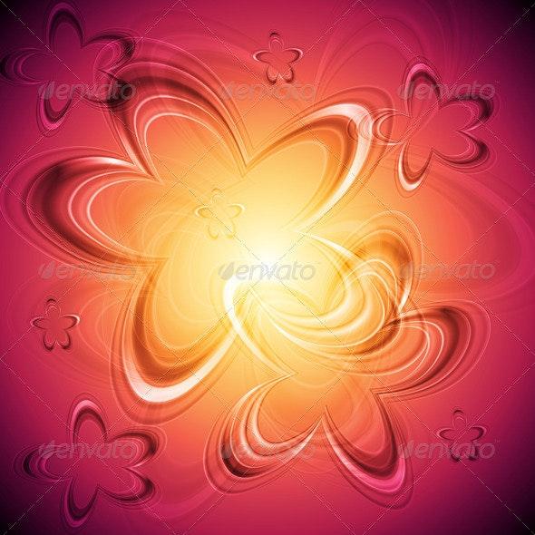 Bright floral background - Flourishes / Swirls Decorative