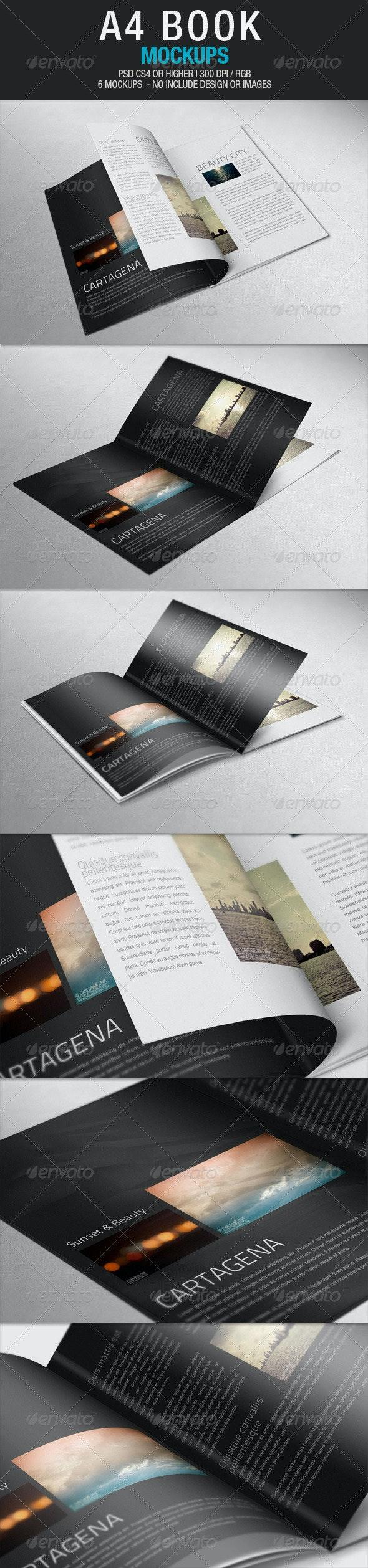 A4 Book Mockups - Books Print