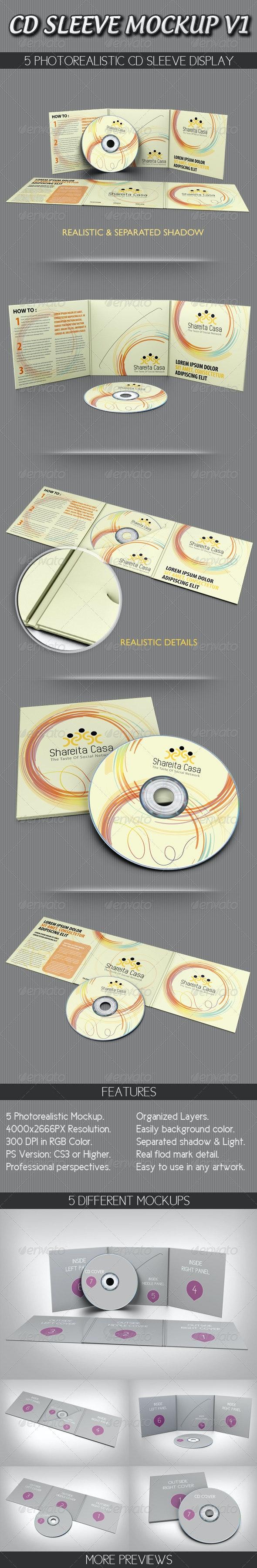 CD Sleeve Mockup V1 - Discs Packaging