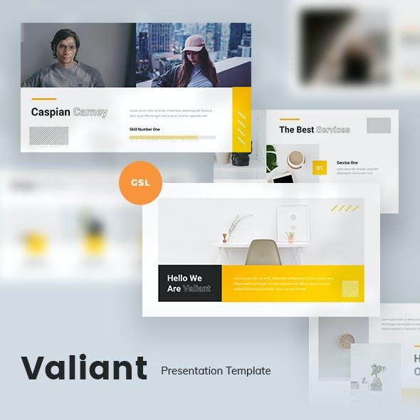 Valiant Creative Google Slides Template
