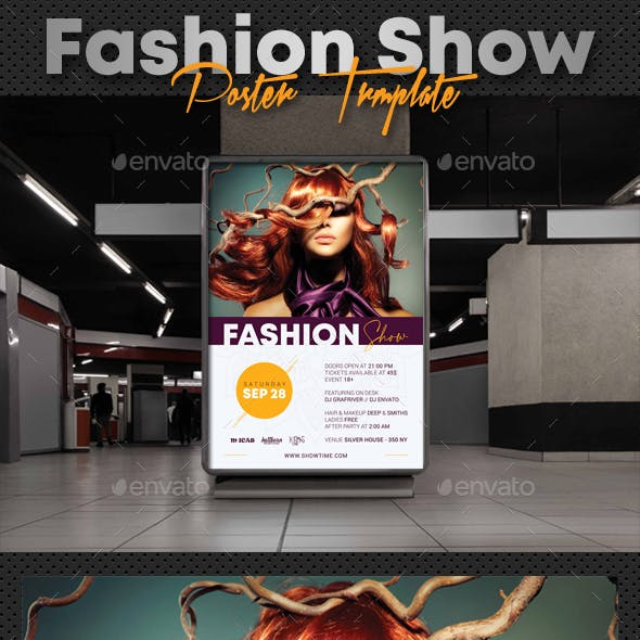 Fashion Show Party Poster V2