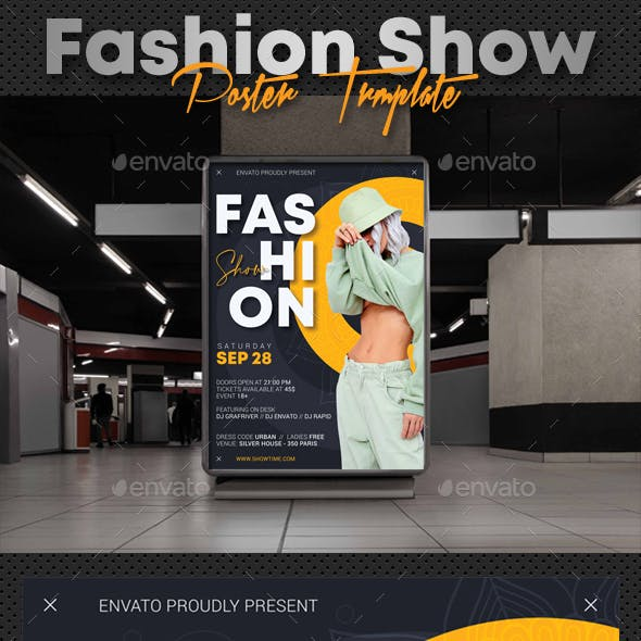 Fashion Show Party Poster V3