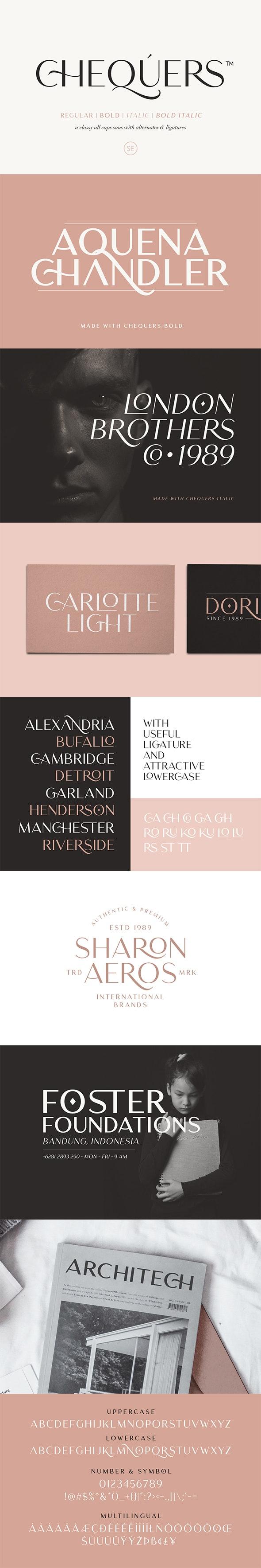 Chequers - Modern Sans Serif - Sans-Serif Fonts