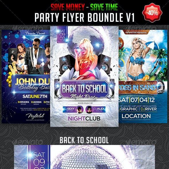 Party Flyer Bundle v1 by Grandelelo