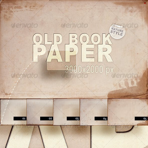 Old Book Paper – Nature Style
