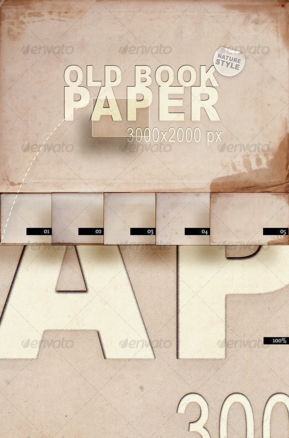 Old Book Paper – Nature Style - Paper Textures