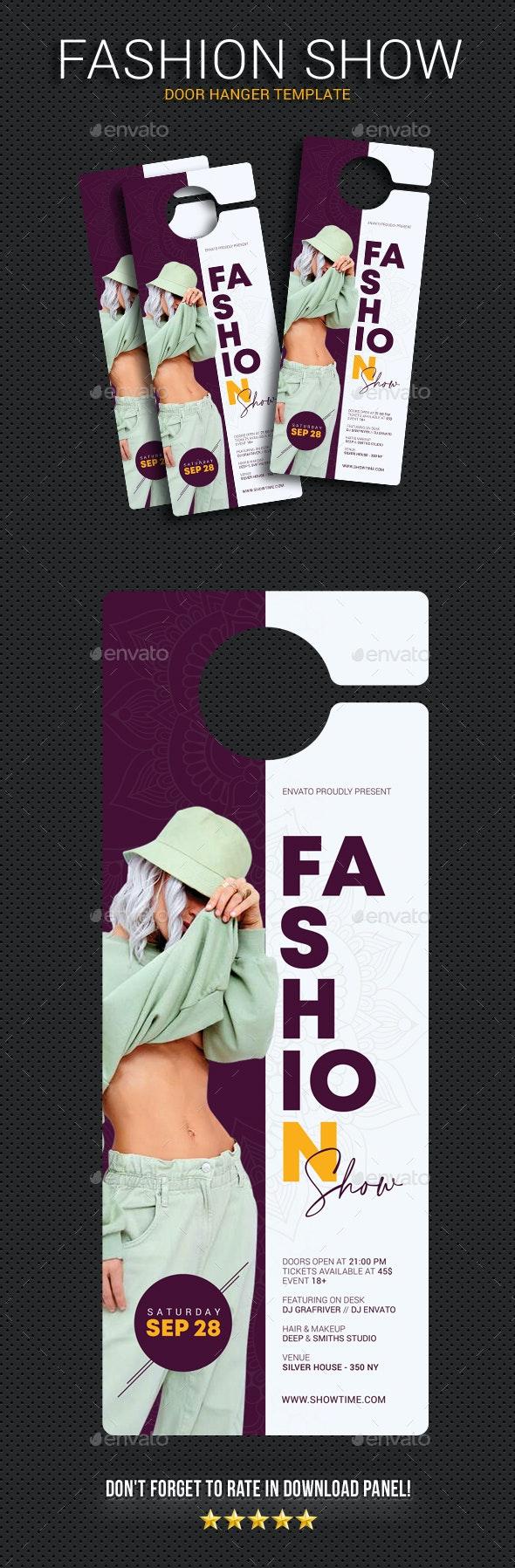 Fashion Show Door Hanger - Miscellaneous Print Templates