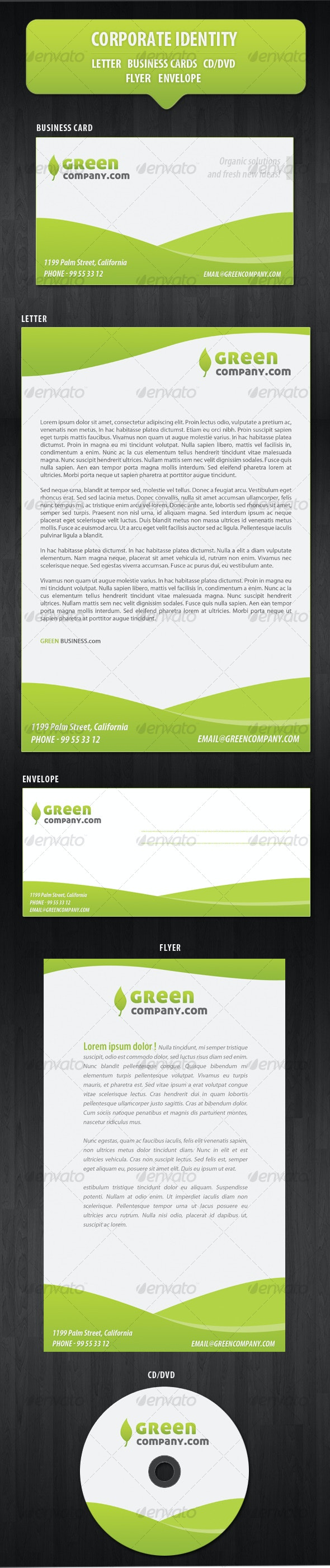 Green Company Corporate Identity/Stationery - Stationery Print Templates