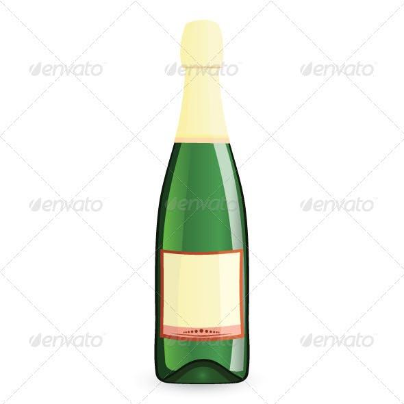 Green bottle vector illustration