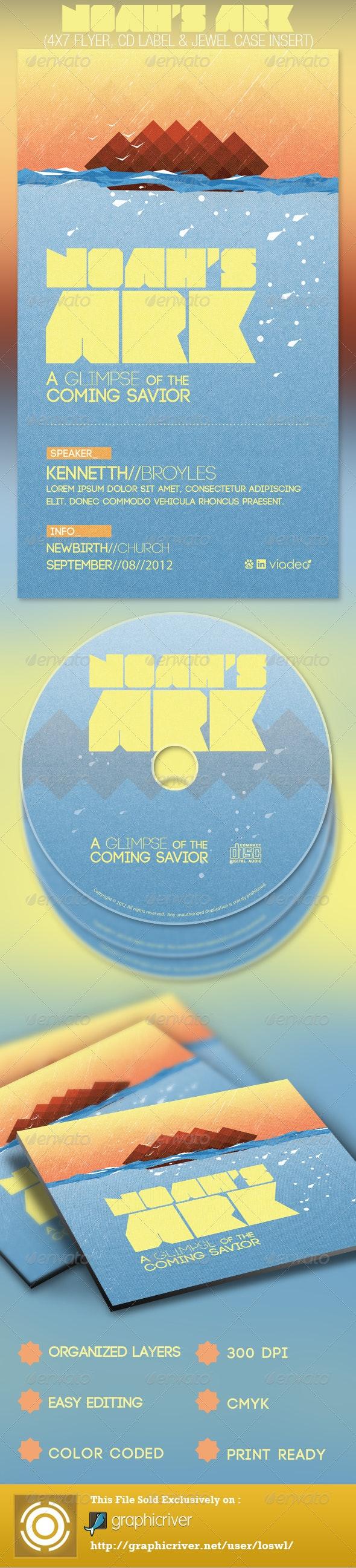 Noah's Ark Church Flyer and CD Template - Church Flyers