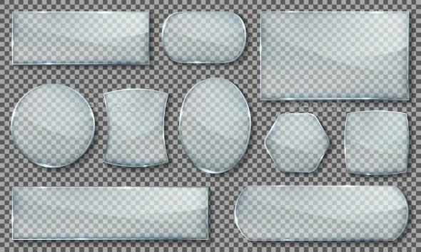 Glass Plates Set - Abstract Conceptual