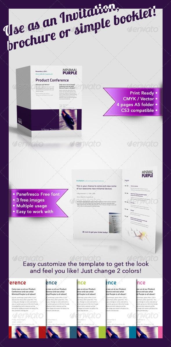 Minimal A5 Multi Usage Brochure - Corporate Brochures