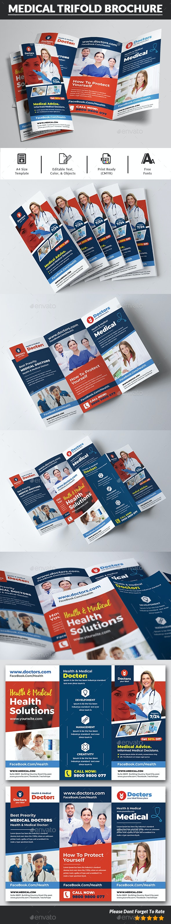 Health & Medical Doctors Trifold Brochure - Corporate Brochures